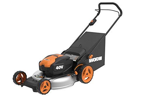 Worx WG751E Akku-Rasenmäher – Profi Rasenmäher mit Mulchfunktion & PowerShare Akku – Rasenmähen ohne Kabel – Ideal für Gärten bis 500 qm