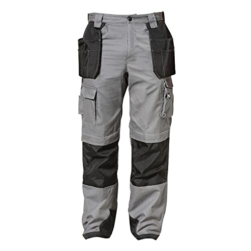 Caterpillar Men's Trademark Pant (Regular and Big & Tall Sizes), Grey/Black, 28W x 32L