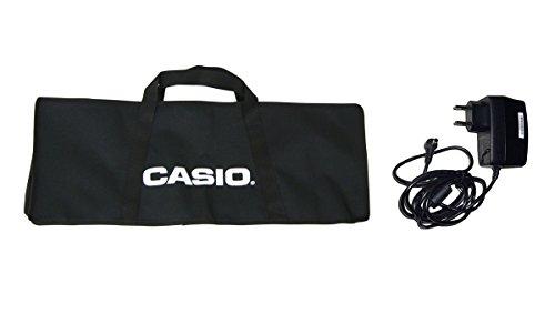 Borsa e Alimentatore originali CASIO per Tastierine Serie SA-46-SA76-SA77 misure interne borsa 60x22x6