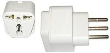 VCT VP107AW International Travel Grounded Adapter Plug for Italy Converts USA & European Plug to Italy Plug
