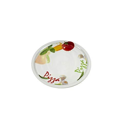 Cosy & Trendy 722110 - Plato para pizza Tomato, cerámica, diámetro 30 cm, porcelana, multicolor