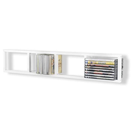 You Have Space - Modern Wall Mount Cd DVD Media Rack...
