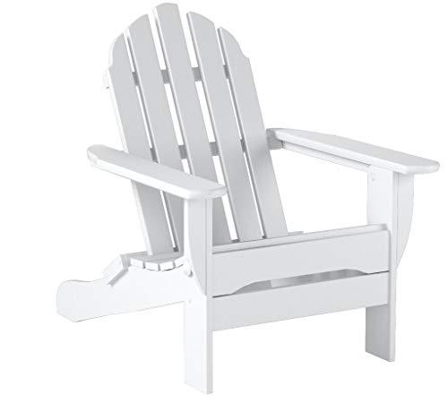 POLYWOOD AD5030WH Classic Folding Adirondack Chair, 35.00 x 29 x 35.00, White