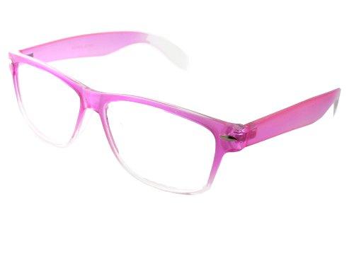 Trendige Damen Lesebrille transparent Pink Stärke +2.00 A36