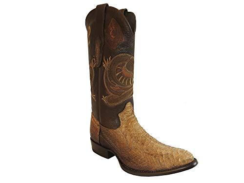 Cuadra Herren Westernstiefel Cowboystiefel Schlangenleder Python (handgefertigt) 2C01PH, Größe:40.5, Farbe:Paja Pulido