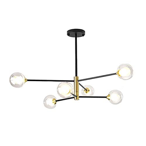 YLJYJ Plafoniere dimmerabili in Oro LED Design Moderno Camera da Letto Lampada da soffitto Lampadario in Acrilico Plafoniere a Luce a Tre Colori