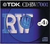 TDK CD-RWデータ用700MB 4倍速10mm厚ケース入り CD-RW80S