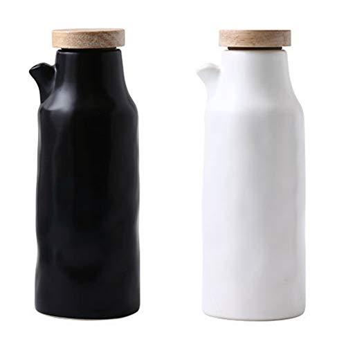 OnePine 2er Pack 400ml Öl Flasche Keramik ölbehälter küche Öl Essig Spender Öl Spender Flasche Küche würze Flasche