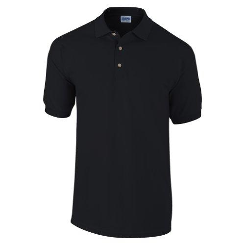 Gildan Ultra Herren Piqué Polo-Shirt, Kurzarm L,Schwarz