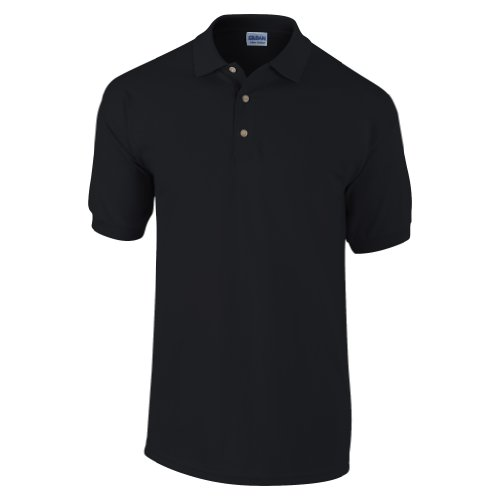 Gildan Mens Ultra Cotton Pique Polo Shirt (XXL) (Black)