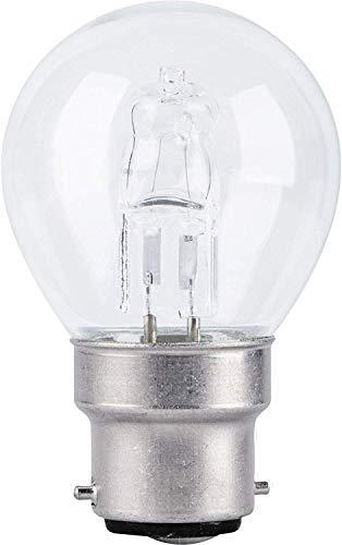 TCP 28 W = 37 W P45 Mini Globe dimmbar ECO Halogen Energiesparlampe B22 BC Bajonettsockel 240 V – 10 Stück