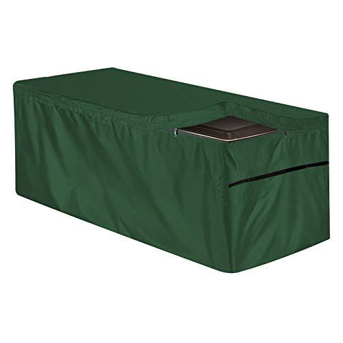 Honeyhouse Abdeckung für Gartenterrassenboxen, Abdeckung für die Terrasse, Aufbewahrungsbehälter, Schutzhülle mit Reißverschluss, wasserdicht, für drinnen und draußen, 130 x 60 x 71 cm, Schwarz