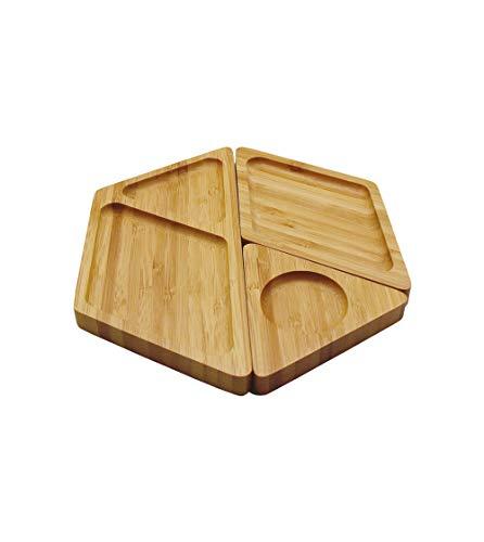 Petisqueira de Bambu Hexagonal desmontável - Oikos