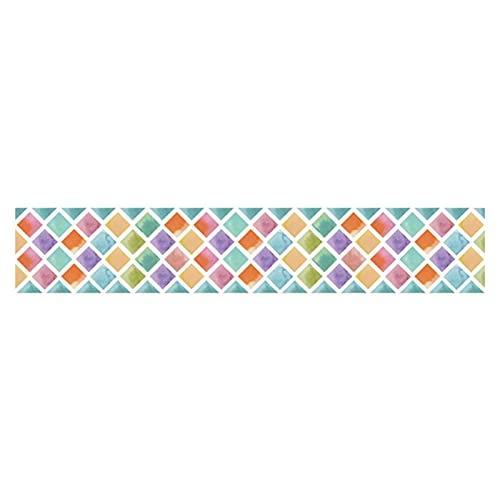 humorous Pegatinas para azulejos con mosaico, autoadhesivas, espejos, mini espejos de cristal cuadrados, para manualidades, decoración de pared, para el hogar, KTV (20 x 500 cm)