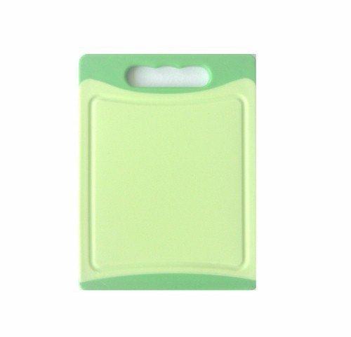 Schneidbrett beidseitig verwendar, grün, 20 x 15 x 8 cm - antibakteriell und lebensmittelecht