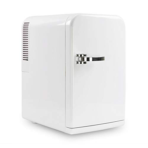 electriQ 15L Hot and Cold Portable Mini Fridge with 12V and UK Mains Plug - White