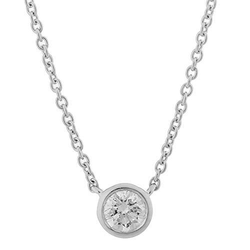 Orphelia Damen-Ketten mit Anhänger 18_k_(750) Weißgold Diamant KD-2034