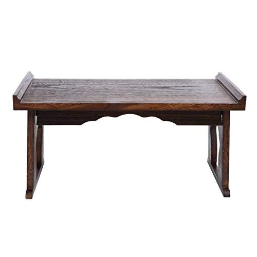 Couchtische Kleiner Tisch Beistelltisch Massivholz Japanischer Teetisch Tatami-Plattform Niedriger Tisch Kreativ-Balkon Erker-Fenstertisch Kleiner Tisch (Size : 80 * 39 * 45cm)