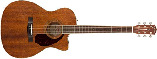 Fender Paramount PM-3 Acoustic Guitar - All-Mahogany - Triple-0 Body Style - Ovangkol Fingerboard - With Case