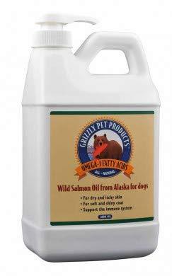 Natural Greatness Aceite de Salmón Salvaje de Alaska Grizzly. Producto Natural Puro para su Mascota (2000 ml)