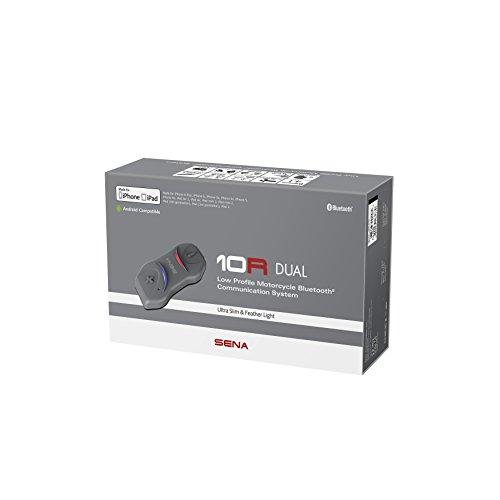 Sena 10R extra flaches Bluetooth-Kommunikationssystem für Motorräder und Roller, Lenkerfernbedienung nicht enthalten Doppelpack