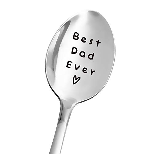 Best Dad Ever Spoon  Funny Dad Spoon Engraved Stainless Steel  Tea Coffee Spoon  Dad Gift from Daughter Son Wife  Perfect Father#039s Day/Birthday/Christmas Gifts