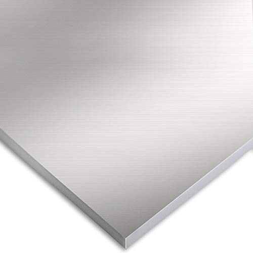 6061 Extra Thick Aluminum Sheet - 12 Inch x 12 Inch x ¼ Inch - Flat Plain Plate Panel Aluminium Metal Sheets Finely Polished and Deburred