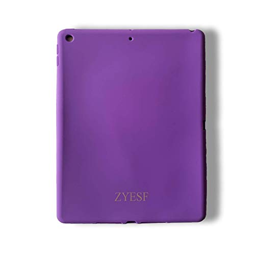 iPad 2019 10.2 Inch Case,Comprehensive Package, Upgrade Thicker Version Kids Friendly Shock Proof Soft Silicone Protective Cover, Purple