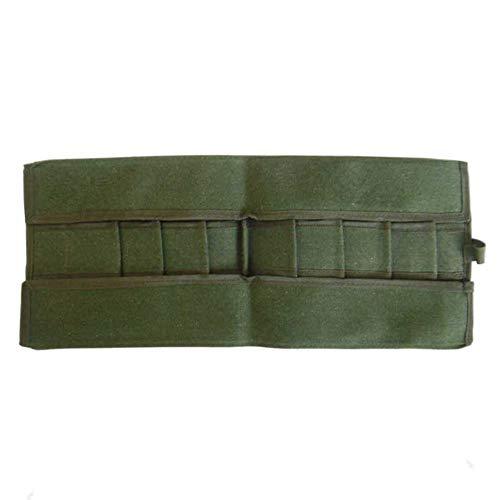 Favourall Bonsai Werkzeugrollen Aufbewahrungstasche mit 10 Taschen, wasserdichte Leinwand-Werkzeugrolle, haltbarer Werkzeugrollen-Organizer für den Garten