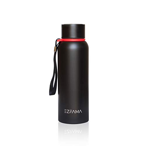 EZFAMA Botella de agua de acero inoxidable 520ml termo prueba de fugas - Mantiene el frío las 24 horas y el calor las 12 horas - ideal para Deportes Colegio Gimnasio Al aire libre Viaje Oficina