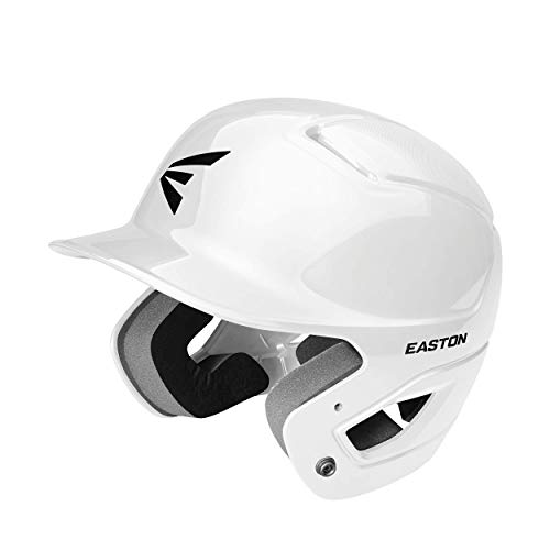 EASTON ALPHA Batting Helmet | Baseball Softball | Medium / Large | White | 2020 | Dual-Density Impact Absorption Foam | High Impact Resistant ABS Shell | Moisture Wicking BioDRI Liner | Removable E
