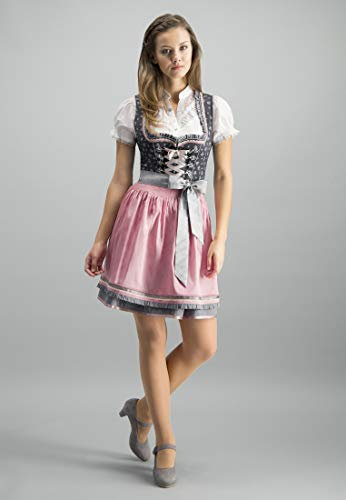 Stockerpoint Damen Solea Dirndl, Mehrfarbig (Anthrazit-Rose Anthrazit-Rose), (Herstellergröße: 36)