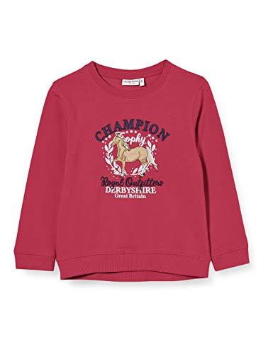 Salt & Pepper Mädchen 05111251 Sweatshirt, Berry Melange, 128/134