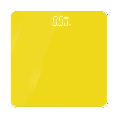 Báscula de baño ultrafina, resistente de 6 mm de vidrio y patas de alfombra, pantalla digital fácil de leer moderno Size naranja