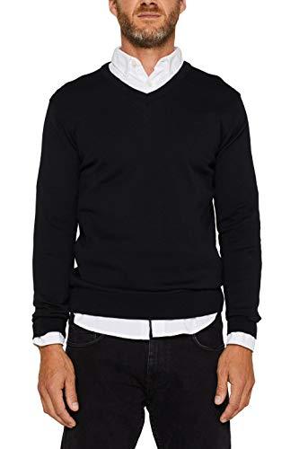 ESPRIT Herren 999Ee2I804 Pullover, Schwarz (Black 001), X-Large (Herstellergröße: XL)
