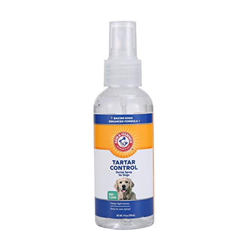 Arm & Hammer Dog Dental Care Tartar Control Dental Spray for Dogs | Dog Dental Spray Reduces Plaque & Tartar Buildup Without Brushing | Mint Flavor, 4 Ounces