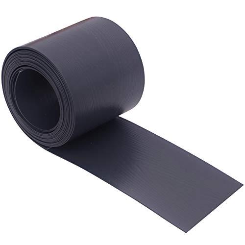 Videx Sichtschutzstreifen für Doppelstabmatten, PVC Holzmaserung, H: 9,5 x L: 200 cm, 18 Stück, anthrazit