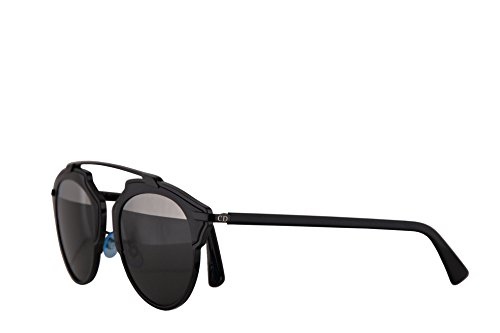 Dior Donne Christian DiorSoReal occhiali da sole w/Grigio Lenti argento a specchio 48 millimetri BOYMD DiorSoReals DiorSoReal/S So Real Nero Grande