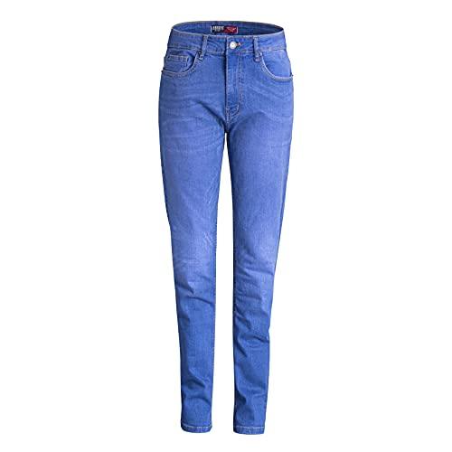 Urbanfit - Jeans da uomo super stretch slim fit, taglia S, R Blu W34