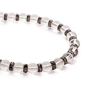 pe1916-quartz [ブランド名:2PIECES] パワーストーン ネックレス メンズ 天然石 数珠 (クォーツ)