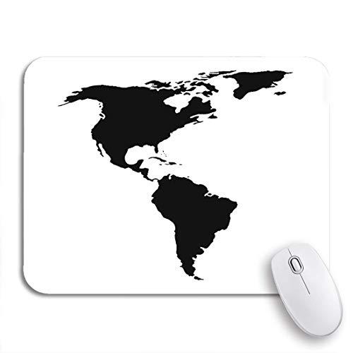 Adowyee Gaming Mauspad Abstrakt Nord- und Südamerika Karte Amerikanischer Kontinent Argentinien Rutschfeste Gummiunterlage Computer Mousepad für Notebooks Mauspads