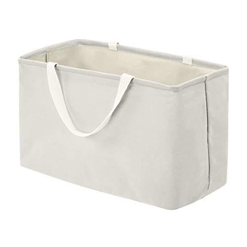 AmazonBasics Fabric Storage Bin - Large Rectangle, Light Grey