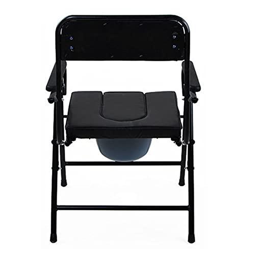 Folding chair Silla con Inodoro para Ancianos con reposabrazos, Silla Plegable portátil, Silla con Inodoro para discapacitados, baño e Inodoro, Silla Plegable para Dormitorio