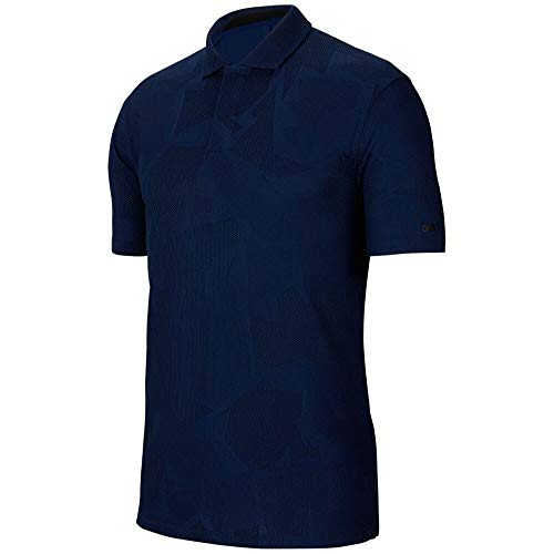 Nike Golf TW Tiger Woods Dri-Fit Camo Jacquard Polo CT3801 (Blue Void,...