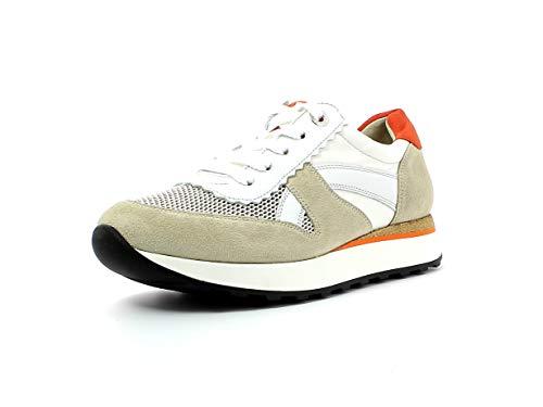 Paul Green Damen Sneaker 4918, Frauen Low-Top Sneaker, Ladies feminin elegant Women's Woman Freizeit leger Halbschuh,Biscuit/ORO,38.5 EU / 5.5 UK