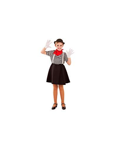 DISBACANAL Disfraz de Mimo para niña - -, 12 años