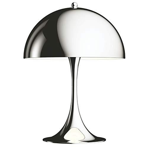 Panthella Mini Table Lamp, Louis Poulsen, Tischleuchte Entworfen von Verner Panton (Hochglanzverchromt)
