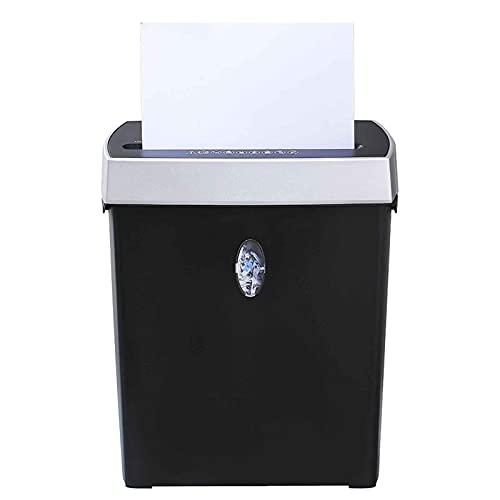 Destructora de Papel de Alimentación trituradora de papel de 6 hojas, trituradora de papel automática doméstica, confidencialidad de 4 niveles, tubo de desecho de papel de 11L, 293x150x350 mm