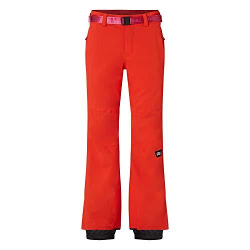 O'Neill Damen Star Slim Pants Snow, Fiery Red, M