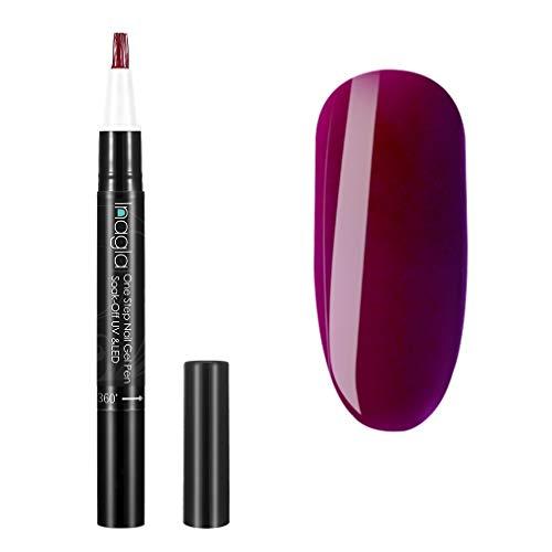 Ingala Einschritte UV Nagellack Stift, One Step Gel für Nägel, UV LED Soak Off Gel Nail Klassische...